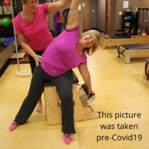 Need to work on balance?  Try the Pilates Chair!