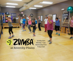 Picture of people doing zumba at Rivercity Pilates