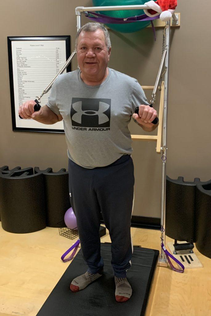 Jeff Miller of Solon Iowa at Pilates class